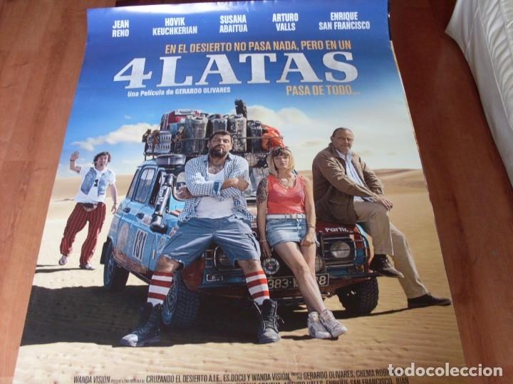 4 LATAS - CARTEL ORIGINAL (Cine - Posters y Carteles - Clasico Español)