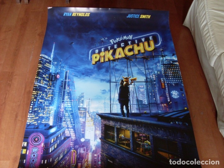 POKEMON DETECTIVE PICACHU - CARTEL ORIGINAL (Cine - Posters y Carteles - Infantil)