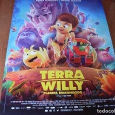Cine: TERRA WILLY PLANETA DESCONOCIDO - CARTEL ORIGINAL. Lote 176960152