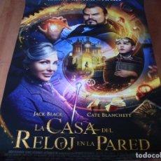 Cine: LA CASA DEL RELOJ EN LA PARED - CARTEL ORIGINAL. Lote 176960230