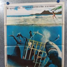 Cine: EL TESORO DE LOS TIBURONES. YAPHET KOTTO, CORNEL WILDE AÑO 1976. POSTER ORIGINAL. Lote 177002069