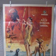 Cine: CARTEL CINE ORIG LA ISLA DE LOS DELFINES AZULES (1964) / CELIA MILIUS / LARRY DOMASIN / JANO. Lote 177028032
