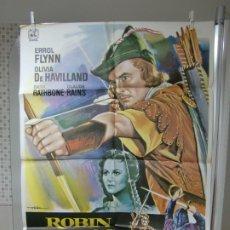 Cine: CARTEL CINE ORIG REESTRENO ROBIN DE LOS BOSQUES (1938) ERROL FLYNN / OLIVIA DE HAVILLAND / MAC. Lote 177184373