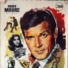 Cine: LA VENGANZA DEL SANTO. ROGER MOORE. CARTEL ORIGINAL 1969. 70X100. Lote 177264524