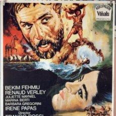 Cine: LAS AVENTURAS DE ULISES. FRANCO ROSSI-DINO DE LAURENTIS. CARTEL ORIGINAL 1970. 70X100. Lote 177264859