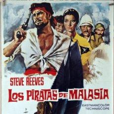 Cine: LOS PIRATAS DE MALASIA. STEVE REEVES. CARTEL ORIGINAL 1975. 70X100. Lote 177265975