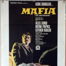 Cine: MAFIA. KIRK DOUGLAS-MARTIN RITT. CARTEL ORIGINAL 1969. 70X100. Lote 177266544
