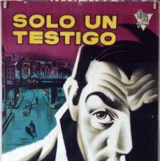 Cine: SOLO UN TESTIGO. LINO VENTURA. CARTEL ORIGINAL 1959. 100X70. Lote 177266932