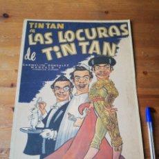 Cine: CARTEL MEXICANO DE LA PELÍCULA LAS LOCURAS DE TIN TAN. . Lote 177271393