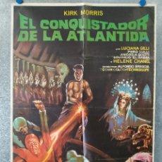 Cine: EL CONQUISTADOR DE LA ATLÁNTIDA. KIRK MORRIS, LUCIANA GILLI. AÑO 1971 POSTER ORIGINAL. Lote 177293175