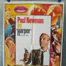 Cine: HARPER, INVESTIGADOR PRIVADO. PAUL NEWMAN, LAUREN BACALL, JULIE HARRIS AÑO 1976. POSTER ORIGINAL. Lote 177369062