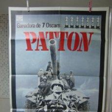 Cinema: CARTEL CINE ORIG REESTRENO PATTON (1970) GEORGE C. SCOTT / KARL MALDEN. Lote 177486660