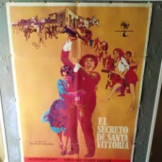 Cine: EL SECRETO DE SANTA VITTORIA ANTHONY QUINN ANNA MAGNANI POSTER ORIGINAL 70X100 YY (935). Lote 47599911