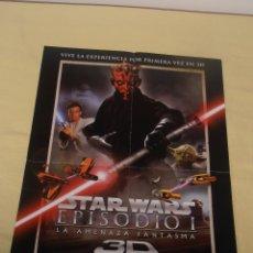Cine: STAR WARS EPISODIO I - LA AMENAZA FANTASMA POSTER 57 X 41. Lote 177676105