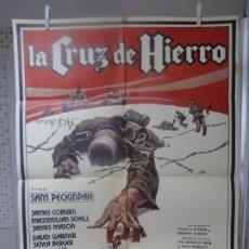 Cinéma: CARTEL CINE ORIG ESTRENO LA CRUZ DE HIERRO (1977) JAMES COBURN / JAMES MASON / SAM PECKINPAH. Lote 177676792