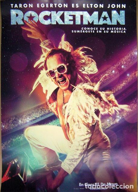 CINE CARTEL PELICULA ROCKETMAN 30X42 CM ELTON JOHN (Cine - Posters y Carteles - Musicales)