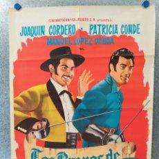 Cine: LOS BRAVOS DE CALIFORNIA. JOAQUIN CORDERO, PATRICIA CONDE, MANUEL LOPEZ AÑO 1965 POSTER ORIGINAL. Lote 177801405