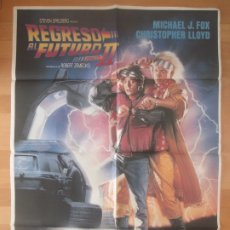Cine: CARTEL CINE, REGRESO AL FUTURO II, MICHAEL J. FOX, CHRISTOPHER LLOYD, 1989, C1026. Lote 177889074