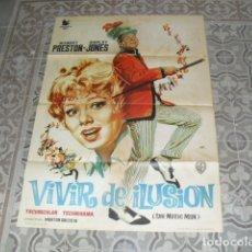 Cine: CARTEL ORIGINAL PELÍCULA - VIVIR DE ILUSIÓN - 100X70 CMS. AÑO 1963. Lote 177896387
