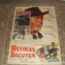 Cine: CARTEL PELÍCULA - LAS PISTOLAS NO DISCUTEN - AÑO 1964. Lote 177896840