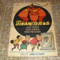 Cine: CARTEL ORIGINAL PELICULA - LOS DINAMITEROS - AÑO 1963. Lote 177914119