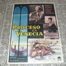 Cine: CARTEL ORIGINAL PELICULA PROCESO EN VENECIA AÑO 1964. MEDIDAS 100 X 70 CMS.. Lote 177934545