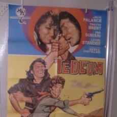 Cine: CARTEL ORIG DE CINE ESTRENO TEDEUM (1972) JACK PALANCE / ENZO G. CASTELLARI / JANO. Lote 177946148