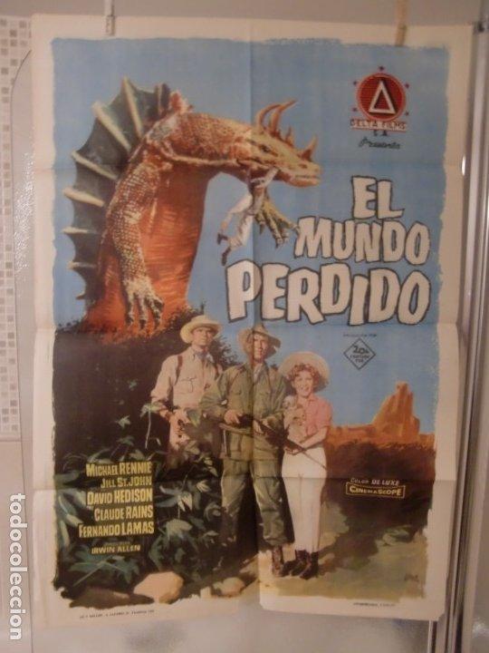 CARTEL CINE ORIG EL MUNDO PERDIDO (1960) IRWIN ALLEN / JILL ST. JOHN (Cine - Posters y Carteles - Ciencia Ficción)