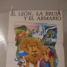 Cine: CARTE CINE ORIGINAL ESTRENO EL LEON, LA BRUJA Y EL ARMARIO (1979) 42,5 X 55 / BILL MELENDEZ. Lote 177951409