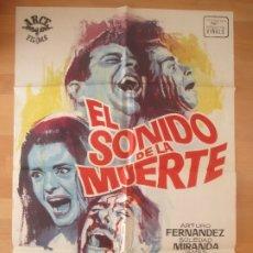 Cinema: CARTEL CINE, EL SONIDO DE LA MUERTE, ARTURO FERNANDEZ, SOLEDAD MIRANDA, JANO, 1966, C1433. Lote 178030179