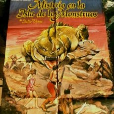 Cine: MISTERIO EN LA ISLA DE LOS MONSTRUOS (FILM ESPAÑA 1981) JULIO VERNE - CARTEL POSTER ORIGINAL 70X100. Lote 178050729