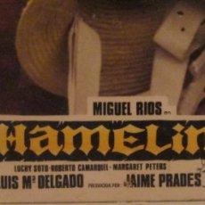 Cine: PAREJA DE CARTELES MIGUEL RIOS, HAMELIN. Lote 178142314