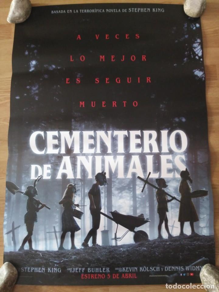 CEMENTERIO DE ANIMALES - APROX 70X100 CARTEL ORIGINAL CINE (L70) (Cine - Posters y Carteles - Terror)