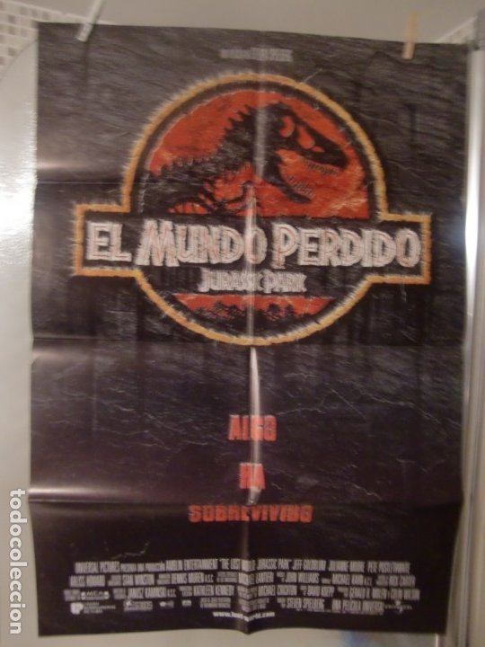 CARTEL CINE ORIGINAL ESTRENO EL MUNDO PERDIDO (JURASSIC PARK) (1996) STEVEN SPIELBERG (Cine - Posters y Carteles - Ciencia Ficción)