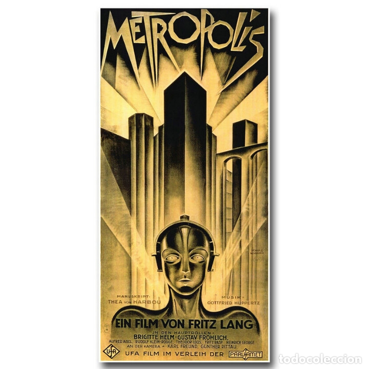 CARTEL EN TELA PELÍCULA METROPOLIS DE FRITZ LANG (Cine - Posters y Carteles - Ciencia Ficción)