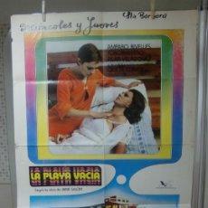 Cine: CARTEL CINE ORIGINAL ESTRENO LA PLAYA VACIA (1977) AMPARO RIVELLES / PILAR VELÁZQUEZ. Lote 178297070