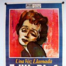 Cine: UNA VOZ LLAMADA EDITH PIAF (1974). GUY CASARIL. CARTEL ORIGINAL DE LA PELÍCULA. 70 X 100 CMS.. Lote 178318283