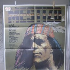 Cine: CARTEL CINE ORIGINAL REESTRENO MESTIZO (1966) HUGO BLANCO / JULIO BUCHS / JANO. Lote 178327375