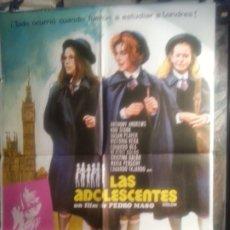 Cine: CARTEL DE CINE ORIGINAL : LAS ADOLESCENTES. Lote 195764180