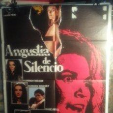 Cine: CARTEL DE CINE: ANGUSTIA DE SILENCIA. Lote 192835958