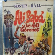 Cine: ALÍ BABÁ Y LOS CUARENTA LADRONES. JON HALL, MARIA MONTEZ AÑO 1973. POSTER ORIGINAL. Lote 178593270