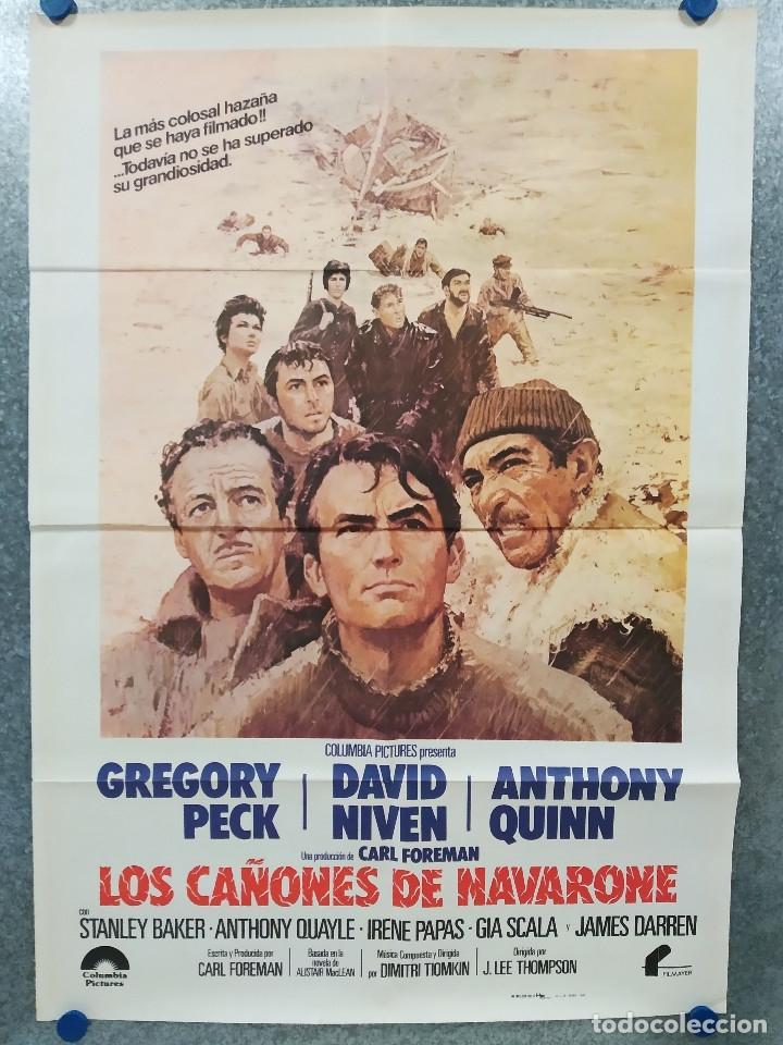 LOS CAÑONES DE NAVARONE. GREGORY PECK, DAVID NIVEN AÑO 1982. POSTER ORIGINAL (Cine - Posters y Carteles - Bélicas)