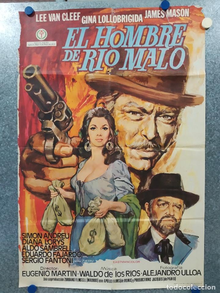 EL HOMBRE DE RÍO MALO. LEE VAN CLEEF, JAMES MASON, GINA LOLLOBRIGIDA AÑO 1972. POSTER ORIGINAL. (Cine - Posters y Carteles - Westerns)