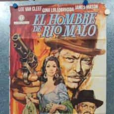 Cine: EL HOMBRE DE RÍO MALO. LEE VAN CLEEF, JAMES MASON, GINA LOLLOBRIGIDA AÑO 1972. POSTER ORIGINAL.. Lote 178594361