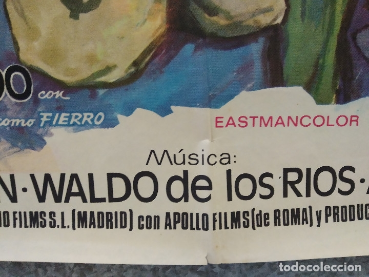 Cine: El hombre de Río Malo. Lee Van Cleef, James Mason, Gina Lollobrigida AÑO 1972. POSTER ORIGINAL. - Foto 8 - 178594361