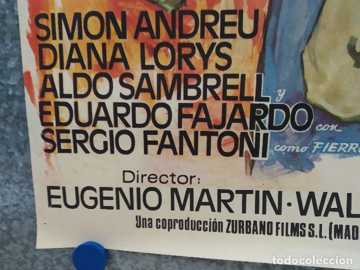 Cine: El hombre de Río Malo. Lee Van Cleef, James Mason, Gina Lollobrigida AÑO 1972. POSTER ORIGINAL. - Foto 9 - 178594361