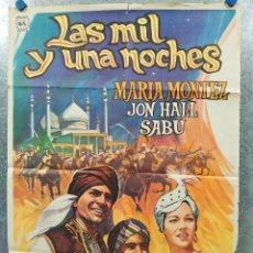 Cine: LAS MIL Y UNA NOCHES. SABU, JON HALL, MARIA MONTEZ AÑO 1975. POSTER ORIGINAL.. Lote 178595411