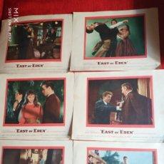 Cine: EAST OF EDÉN/ JAMES DEAN/ 6 CARTELES ORIGINALES USA 1955. Lote 178595603