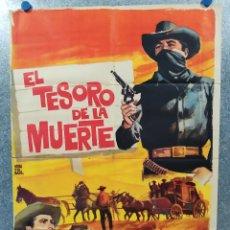 Cine: EL TESORO DE LA MUERTE. AGUILA NEGRA, FERNANDO CASANOVA, GLORIA LOZANO. AÑO 1964. POSTER ORIGINAL.. Lote 178595891