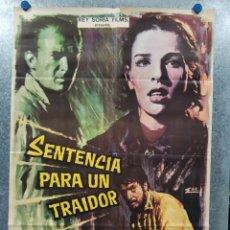 Cine: SENTENCIA PARA UN TRAIDOR . ARTURO G. BUHR, BARBARA MUJICA. AÑO 1967. POSTER ORIGINAL.. Lote 178596272